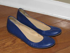 J. Crew Blue Leather Cece Ballet Flats size 7 64408 Made in Italy