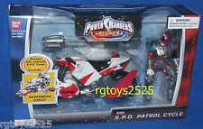 Power Rangers SPD Red Patrol Cycle w Ranger New Factory Sealed 2004