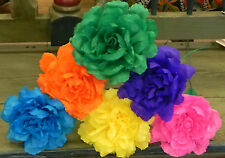 Special listing for rociorrt 72 Crepe Paper Flowers Multicolor Rose
