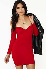 new Nasty Gal Playing With Fire red sweetheart dress S Small 2 retails $88