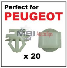 20 x PEUGEOT PLASTIC DOOR SIDE MOULDING BUMPER GRILLE TRIM CLIPS