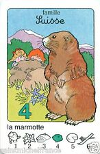 MARMOTTE ALPES Marmot SUISSE Switzerland Schweiz PLAYING CARD CARTE A JOUER