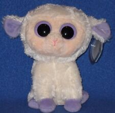 "TY BEANIE BOOS BOO'S - CLOVER the 6"" LAMB - MINT with MINT TAGS"