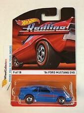 '84 Ford Mustang SVO Blue * 2015 Hot Wheels * RedLine Heritage D Case * Z4