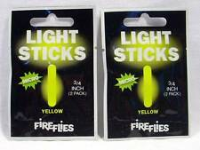 2 Packages Aerojig Hawken Fishing Fireflies Micro Light Sticks Neon Yellow