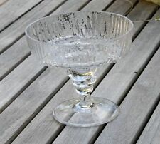 Rosenthal Glas Fußschale Aufsatz MARTIN FREYER Reliefglas Eisglas Kunstglas