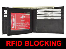 RFID Blocking Security Men Bifold Card Id Credit Leather CENTER FLAP Wallet Back