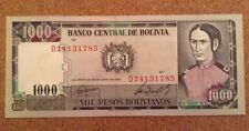 Bolivia Banknote. 1000 Pesos. Dated 1982