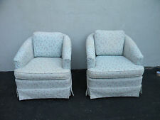 Pair of Low Mid-Century Barrel-Shape Living Room Swivel Chairs 3061