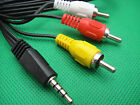"1/8"" 3.5mm Mini AV DV to 3 RCA Male Adapter Audio Video Cable 4 SHARP camcorder"