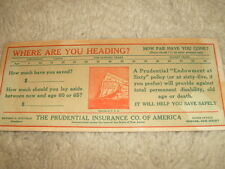 Vintage Prudential Insurance Company Advertisement Card