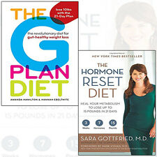 Hormone Reset Diet and The G Plan Diet 2 Books Collection Set Paperback BrandNew