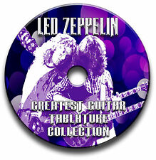 LED Zeppelin Rock Guitar Tabs Tablaturas canción Libro Antología CD de software