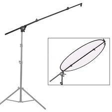 Photo Studio Reflector Diffuser Holder Stand Boom Arm Support + Head Clamp R1Z9