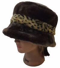 Lady Women Men Russian Cossack Style Faux Fur Bucket Hat