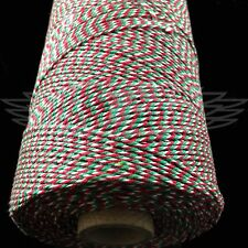 200 METERS x CHRISTMAS RED WHITE GREEN BAKERS TWINE BUTCHERS BAKERS ARTS CRAFTS