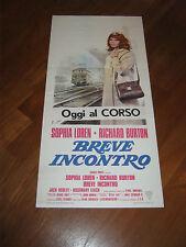 LOCANDINA,BREVE INCONTRO,Brief Encounter. Sophia Loren,Burton,1974,Bridges,treno
