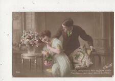 Gentils Compliments Font Toujours Plaisir Romantic Greetings RP Postcard 592a