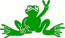 "Peace Frog for Car Truck Wall Laptop Decal Vinyl Sticker Decor style 1 3.5"" X 5"""