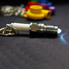 Keyring Boost Spool Keychain NOS Nitrogen Light Spark Plug LED