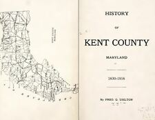 1916 KENT County, Maryland MD, History and Genealogy Ancestry Family DVD CD B05