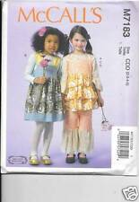 7183 GIRLS RUFFLED TOP, JUMPER, PANTS  SIZE 6-7-8-  NEW MCCALLS  PATTERN 7183