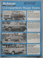 Austin Maxi V's Datsun, Fiat 124 & Ford Cortina GT comparison test