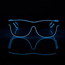 Hot LED Eyewear Shades EL Wire Glasses Light Up Glow Costume For Nightclub Party