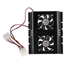SA Black 3.5 SATA IDE Hard Disk Drive HDD 2 Fan Cooler for PC
