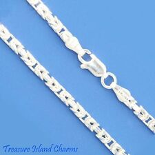 "16"" SQUARE BYZANTINE .925 Solid Sterling Silver NECK CHAIN NECKLACE 2.5mm HEAVY"