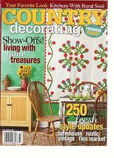 COUNTRY DECORATING, PREMIERE ISSUE ! FALL / WINTER,2013 (250 FRESH STYLE UPDATES