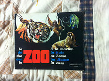 ALBUM FIGURINE COMPLETO COX INTERNATIONAL LO ZOO IN CASA ANIAMLI MOLTO BELLO