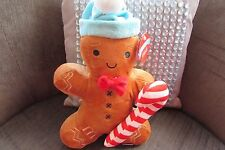 Gingerbread Man Plush 12 inches with hat and Candy Cane new with tags