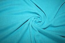 Vintage Raw Silk Noil Jersey Knit Fabric in Turquoise Color  By the Yard