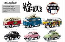 Greenlight VEE DUB CLUB Set of 6 VW  BUS & BUG -LIMITED TO 3000, IN STOCK!!