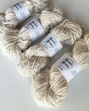 Sari silk yarn, ethical yarn, sustainable, handspun, knit, weave, arts. 5 yards