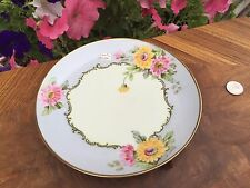 ANTIQUE PLATE Signed A. WILDE BAVARIAN color DAISY STUDIO HANDPAINTED Z.S.& Co.