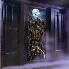Zombie Lights and Sounds Door Panel Halloween Creepy Scary Fun Prank Prop Decor