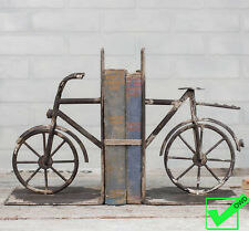 Vintage Industrial Style Metal Bicycle Bookends Book Ends Book Holder