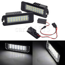 Pair Error free 24 LED 3528 License Plate Light For VW GOLF MK4 MK5 MK6 PASSAT