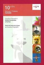 Canada Booklet #430  2389-2393    2010 WILDLIFE  PHOTOGRAPHY    Post Office New