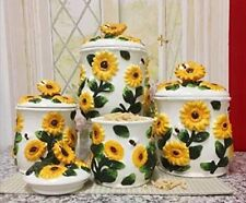 3-D Sunflower 4-piece Canisters Set, 83001 New