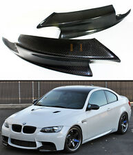 REAL CARBON FIBER FRONT BUMPER LIP SPLITTERS SPOILER FOR 08-2012 BMW E92 E93 M3
