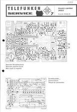 Telefunken Original Service Schaltplan für music-center 3022
