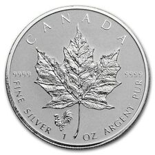 CANADA 5 Dollars Argent 1 Once Maple Leaf 2017 Marque Coq - 1 Oz silver coin