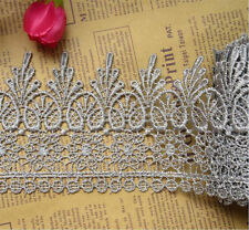 1 Yard Vintage Embroidered Lace Edge Trim Ribbon Crochet Applique Sewing Crafts