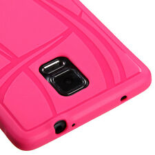 LATEST * FOR SAMSUNG Galaxy Note 4 PINK 1-PC SKIN SOFT RUBBERIZED COVER CASE