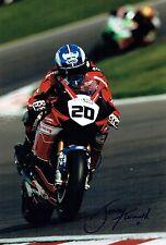 Jenny TINMOUTH Autograph 12x8 Signed HONDA Rider Superbike Photo AFTAL COA