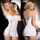 Women G-string Nightwear Sleepwear Babydoll Dress Sexy Lace Lingerie DZ88