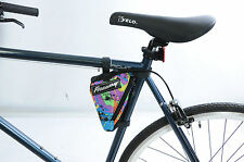 BIKE FRAME TOOL BAG TRIANGLE POUCH CYCLE LUGGAGE MULTI COLOUR SUIT ALL BIKES